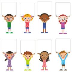 子供集合 フレーム ホワイトボード