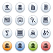 Education icons on color buttons.