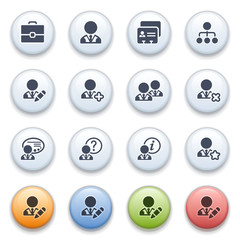 Internet icons on color buttons. Set 12.