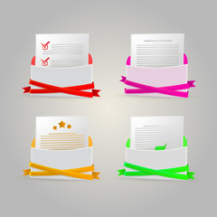Illustration of envelopes