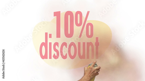 10 Percent Discount Spray Painting