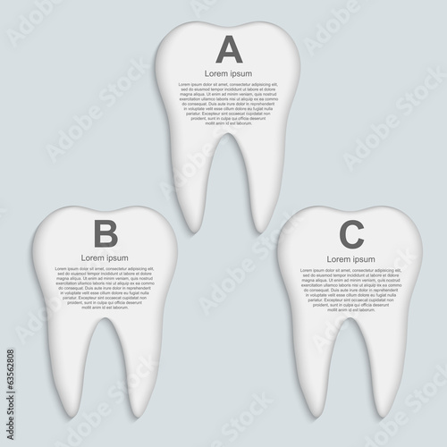 Vector tooth infographic. Design template.