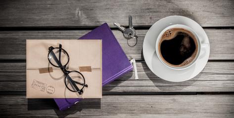 Breakfast. Coffee cup