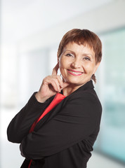 attractive mature woman smiling