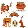 Halloween color funny set