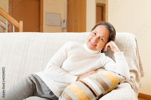 woman  on sofa
