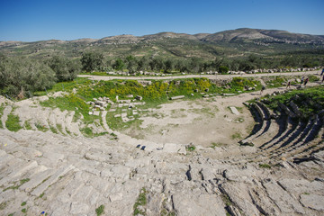 ancient theater in Sebastia