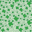 Saint Patrick's Day pattern in vector format.