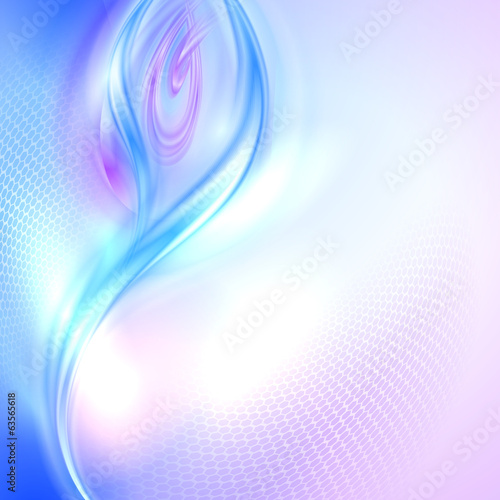 Abstract blue and purple waving background