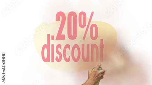 20 Percent Discount Spray Painting