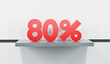 sale at 80 percent