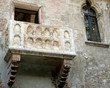 marble balcony of Juliet's House in Verona