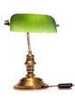 antique green bankers lamp