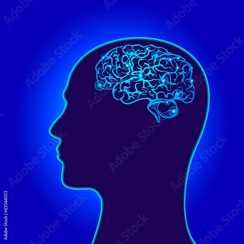 human's brain power symbols vector illustration