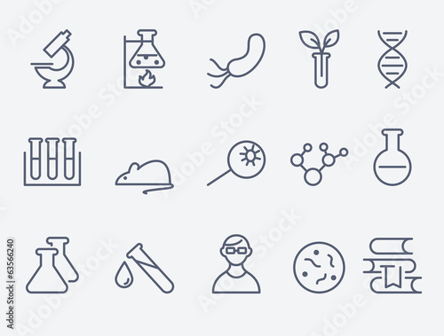 Fototapeta science and research icons