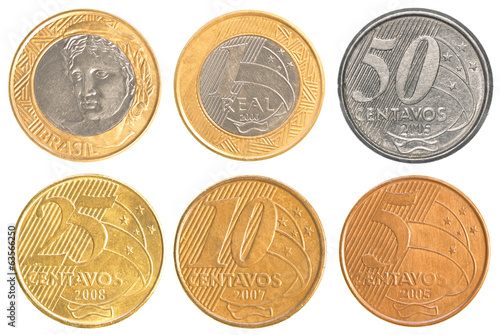 brazil circulating coins collection set