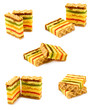 Isolated image of many delicious cookies on a white background