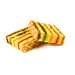 Isolated image of two delicious cookies