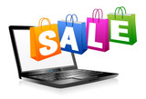 Web SALE Banner Shopping Bags Carrier Bags Icons Symbols