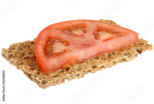 Crispbread Cracker with Tomato