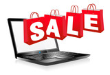 Web SALE Banner Shopping Bags, Carrier Bags Icons Symbols