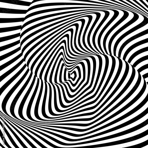 Obraz na Szkle Design monochrome whirl motion illusion background