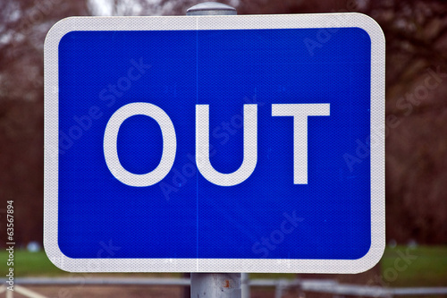 Out traffic sign UK