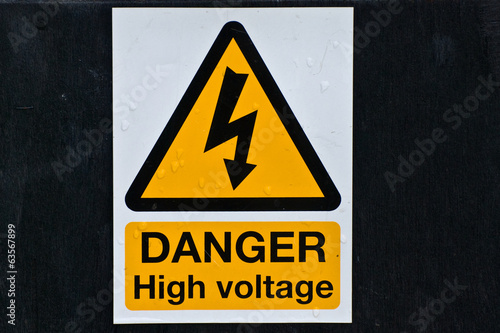 High voltage sign UK