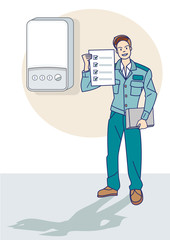 Gas Technician Give a Certificate