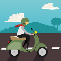 motorcycle Illustration