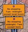 Parking restriction signs UK