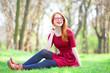 Redhead women  in a park