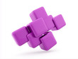 Pink cubes concept rendered isolated