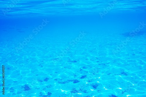 canvas print picture A white sand bottom in clear water