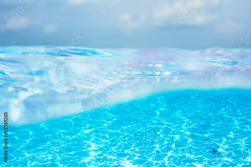 A white sand bottom in clear water