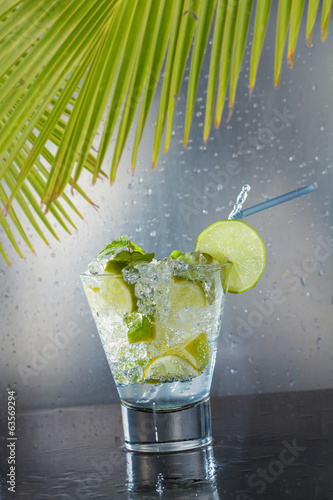 Mojito cocktail at the club