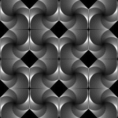 Design seamless monochrome decorative rhombus geometric pattern
