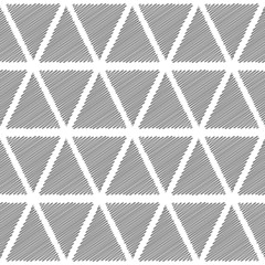 Design seamless monochrome triangular geometric pattern
