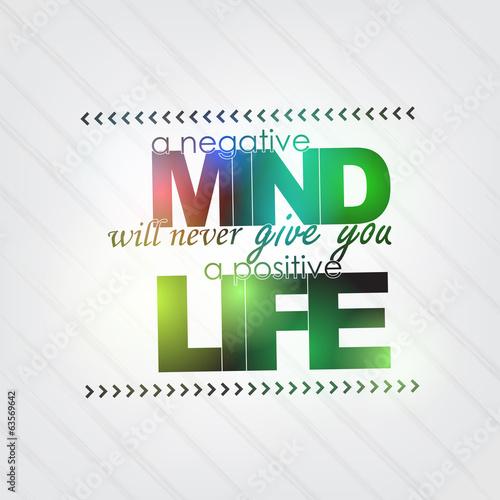 Negative mind, Positive life - 63569642