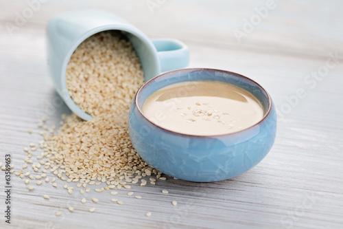 Fotobehang Aromatische tahini