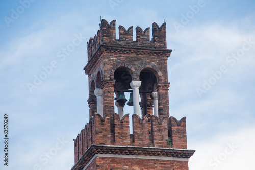 Old Brick Bell Tower Against Sky in Venice
