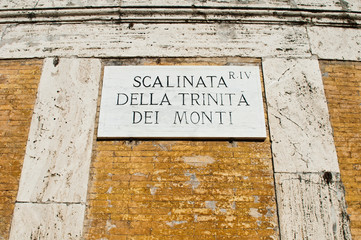 The Spanish Steps sign