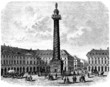 Paris : Place Vendôme - View : middle 19th century