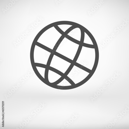 Earth Globe Icon - Vector illustration