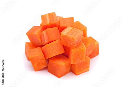 Carrot vegetable cube heap