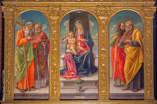 Venice - Madonna on the tron in Santa Maria dei Frari.