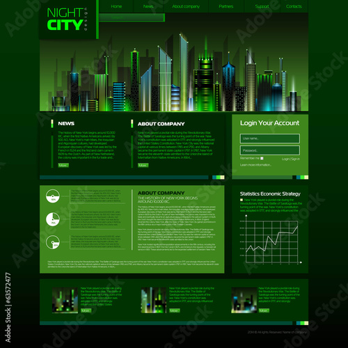 Web site design. night city