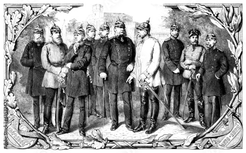 Prussia : King & HighOfficers - Middle 19th century