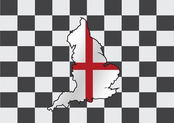map of  England flag  Decorative idea design