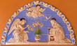 Bologna - Ceramic relief of Annunciation scene